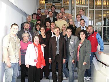 Die Delegation aus Rhein-Neckar