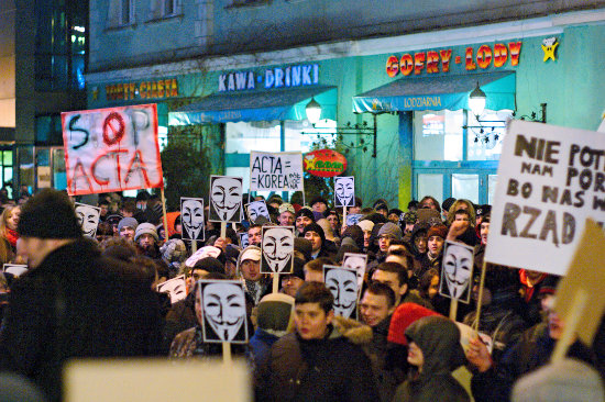 Anti-ACTA-Protest in Polen